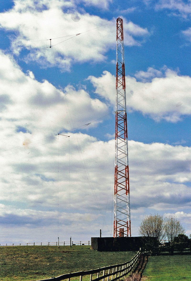 Two Marconi Tee aerials at the Auckland Radio ZLD transmitter site