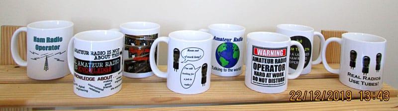 Ham radio coffee cups