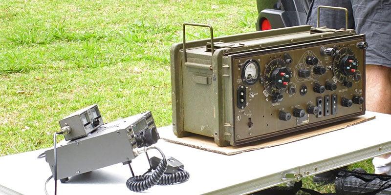 Portable transceivers: Elecraft K2 and World War 2 ZC1 Mk2