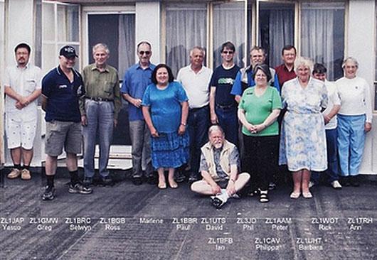 Some members of the Suburban Amateur Radio Club
